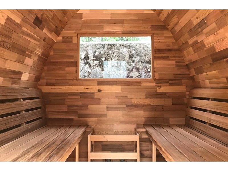 Infra4Health Sauna Pod  red cedar CLEAR