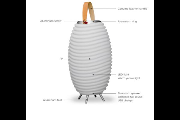 Design LED wijnkoeler + Bluetooth speaker