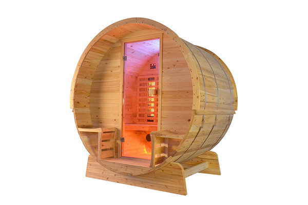 Canopy infrarood barrel sauna