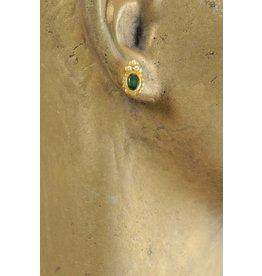 Verfügbarkeit auf Anfrage Smaragd-Ohrstecker mit Perlen