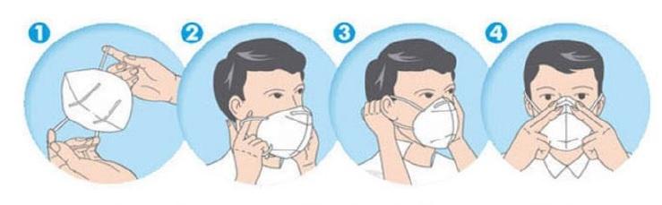 Wie man eine Maske trägt