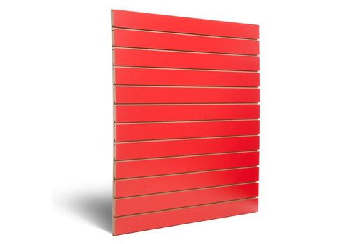 Dizzpanel Slatwall, ROOD,  100 mm