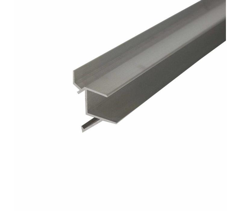 """Schapdrager, """"Blinde bevestiging"""" alu, L=590mm t.b.v. schap 600(b)mm"""