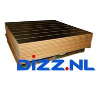 Pallet met 10x slatwall Zwart, minimale schade