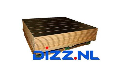 Pallet met 14x slatwall Zwart