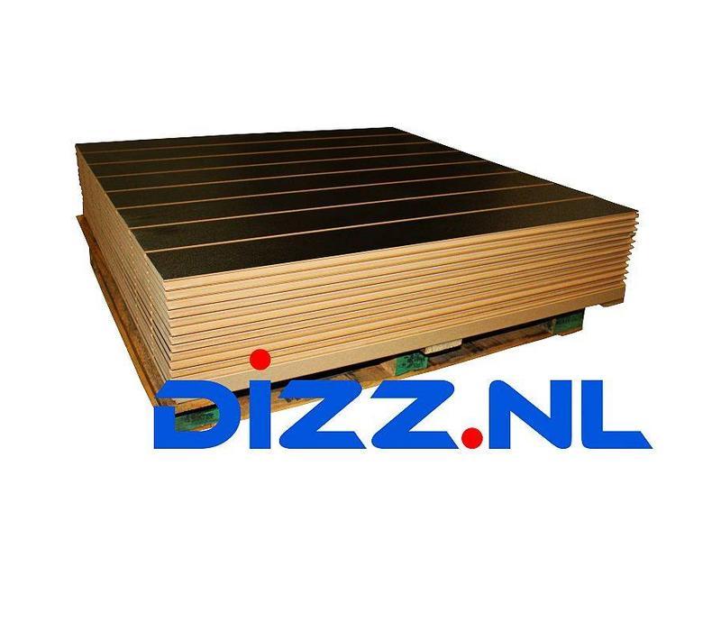 10x  Slatwall Zwart, 150 mm profielafstand,  Nieuw