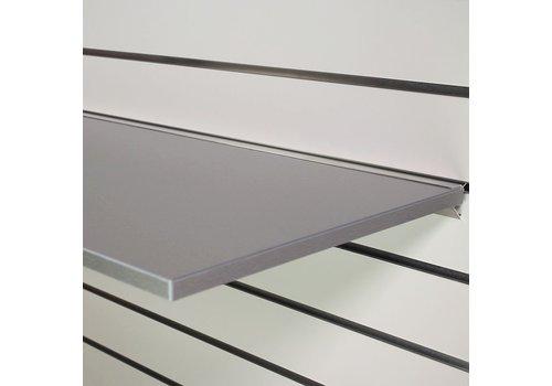 Legplank, 1200x400x18 mm, GRIJS METALLIC  excl. schapdrager(s)