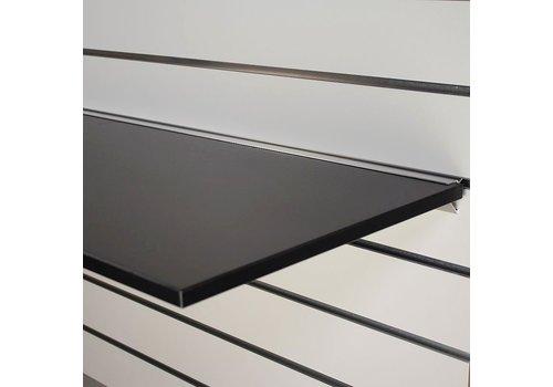 Legplank, 1200x400x18 mm, ZWART  excl. schapdrager(s)