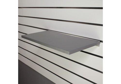 Legplank, 600x300x18mm, GRIJS METALLIC  excl. schapdrager(s)