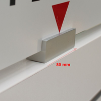 Houder voor topbord, geanodiseerd aluminium