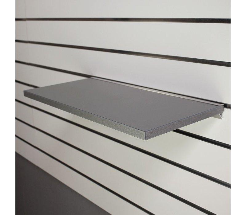 Legplank, 600x200x18 mm, GRIJS METALLIC  excl. schapdrager(s)