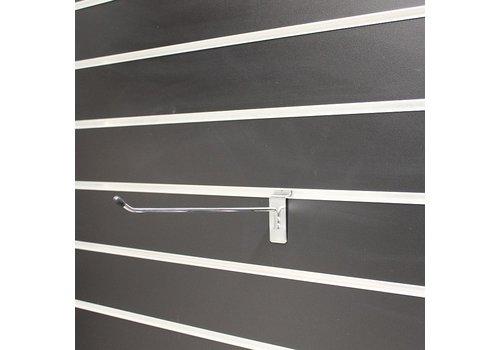 75 x Enkele haak, L=30 cm, zwart dopje