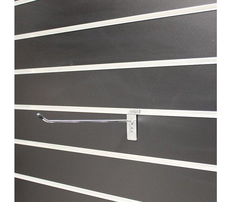 75 x Enkele haak, L=30 cm, met zwart dopje