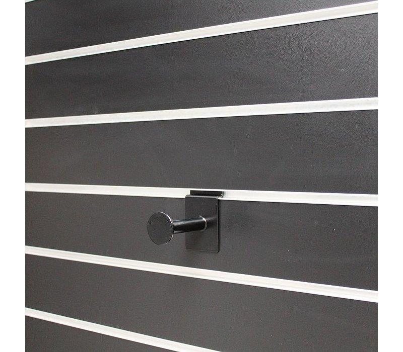 6 x Presentatiestang, L=80 mm, Zwart