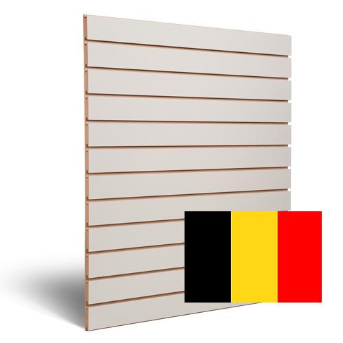 Slatwall lichtgrijs 100 mm Belgie