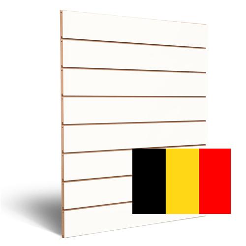Witte slatwall Belgie 150 mm