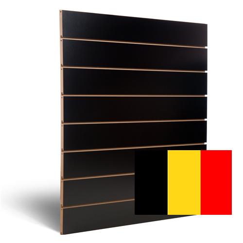 Zwarte slatwall 150 mm Belgie