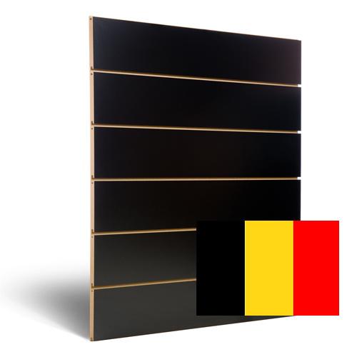 Zwarte slatwall 200 mm Belgie