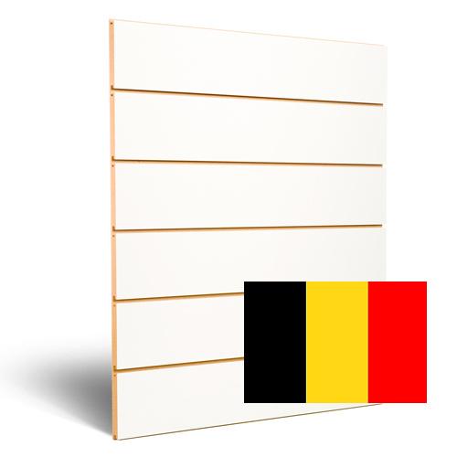 Witte slatwall 200 mm Belgie