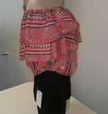 off shoulder roezeltop roze