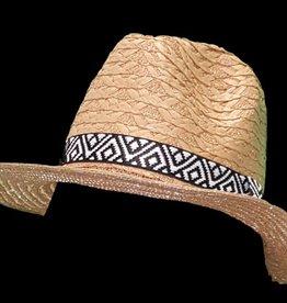 Panamahoed aztec band bruin