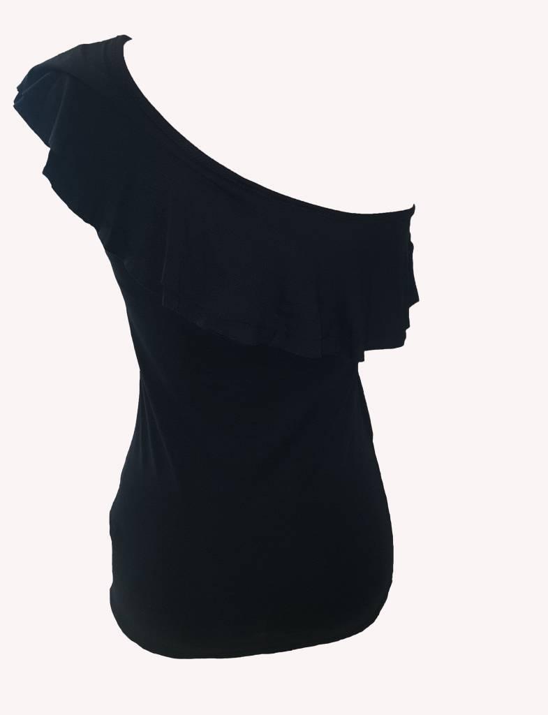 top/t-shirt zwart