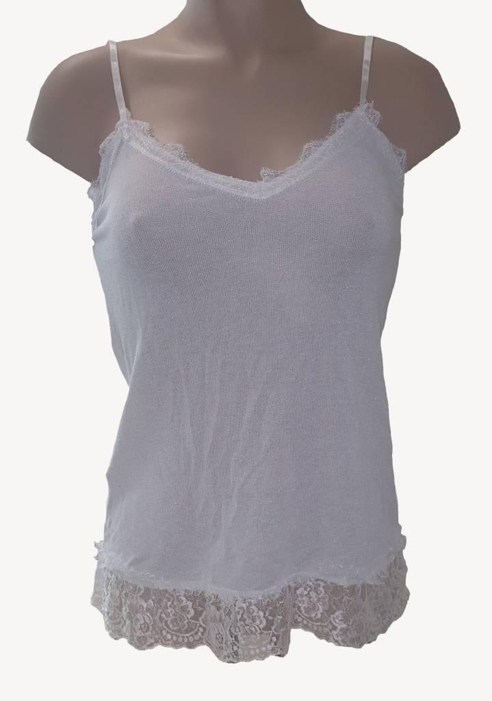 hemdje met verstelbare spaghettibandjes  - wit