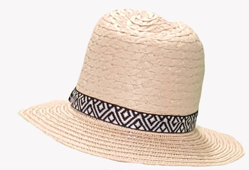 Panamahoed aztec band beige