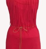 jurk kort - rood