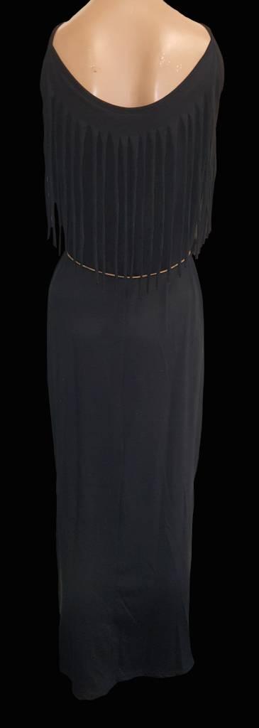 jurk lang - zwart