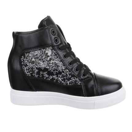 Juliet Hoge Sneakers - zwart