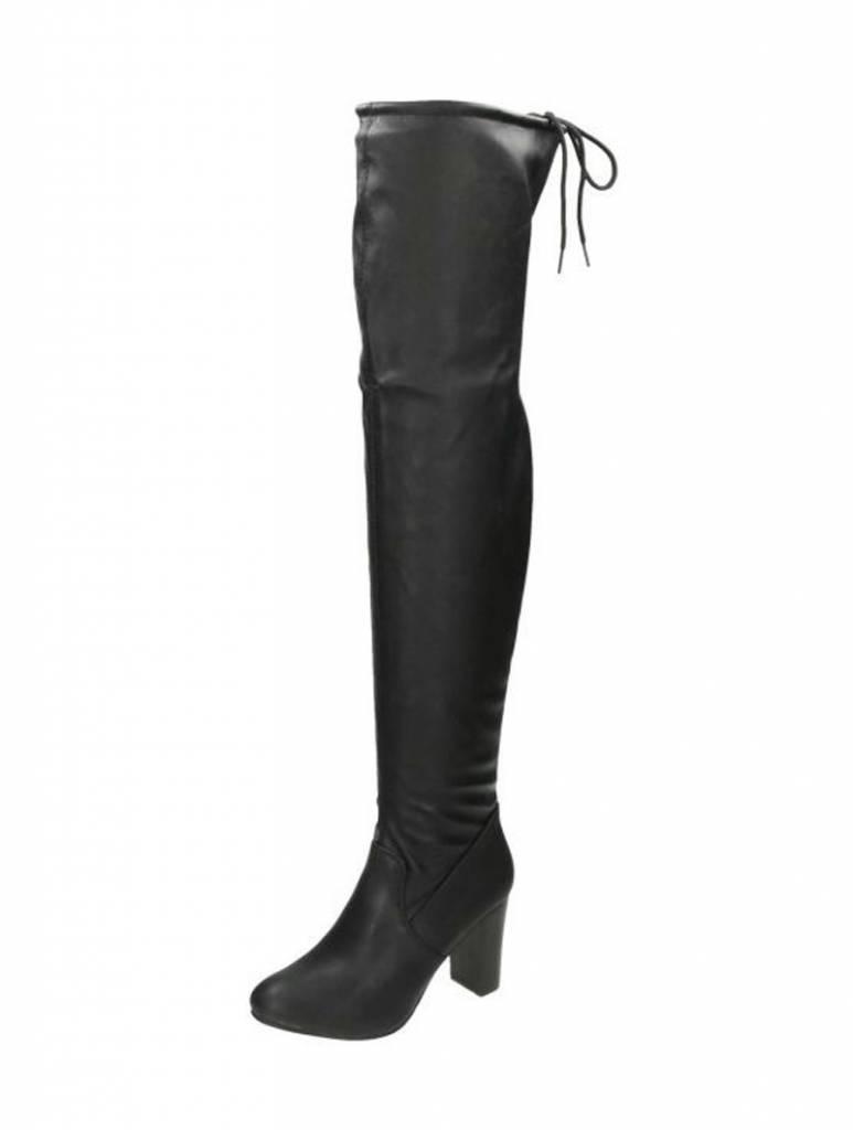 Overknee laarzen leatherlook