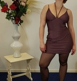 Korte paarse party jurk