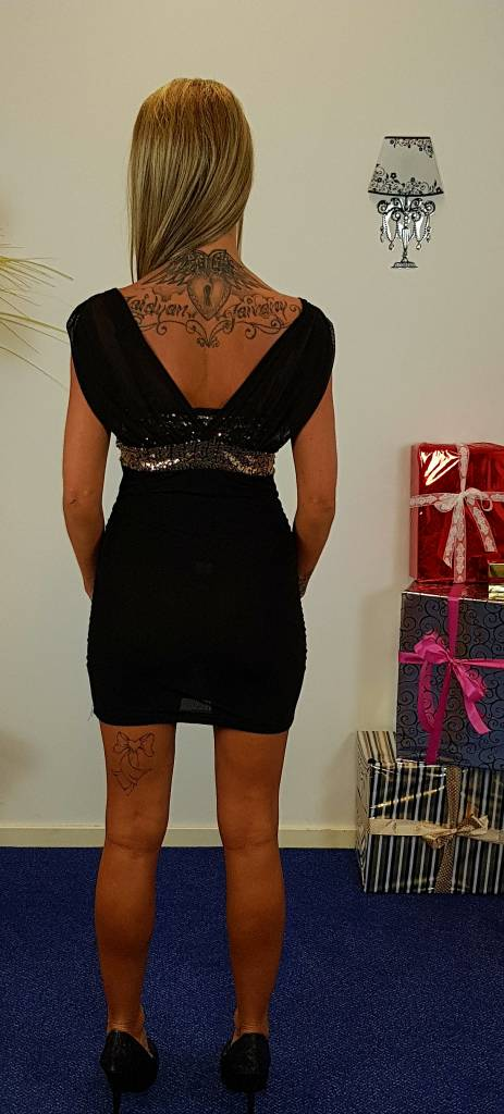 Anself Glitter jurk - zwart