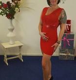 Anself Glitter jurk - rood