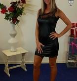 Leatherlook sexy jurk