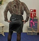 Goudkleurige blouse met 'Tiger' print