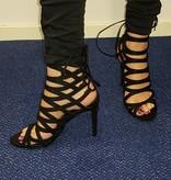 Sandalen met hoge hak - zwart