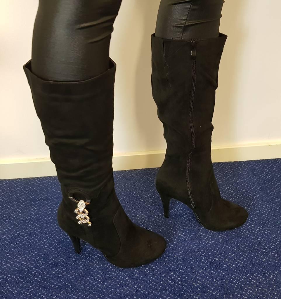 Laura Mode Hoge laars - zwart