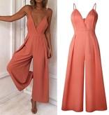 Oranje jumpsuit open rug