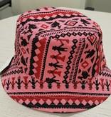 Festival hoedje - roze print