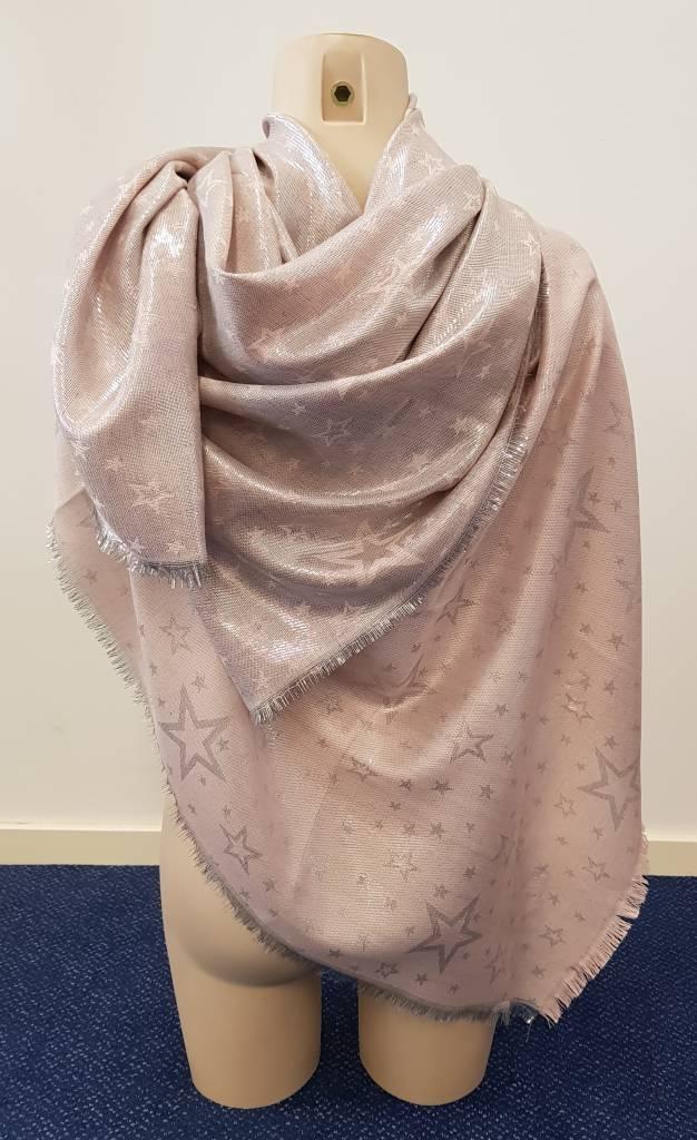 Sterren sjaal - roze