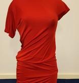 Oranje zomer mini jurk