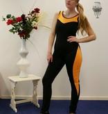 Zwart- Oranje Bodysuit