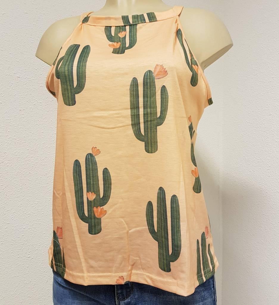 Cactus top - mouwloos