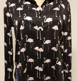 Flamingo blouse - zwart