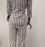 Krijtstreep pantalon - wit