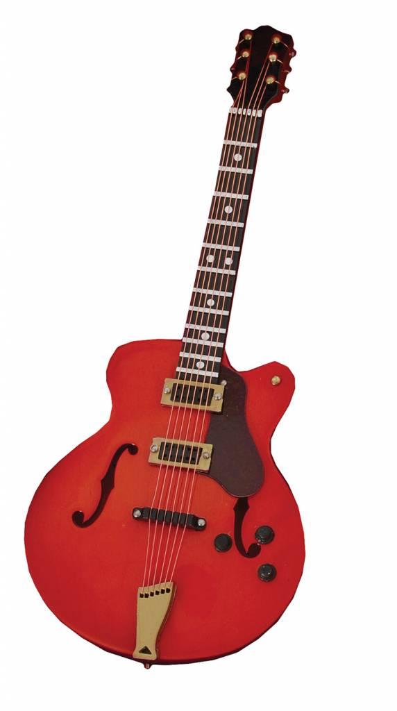 Rode Gibson ES345 gitaar
