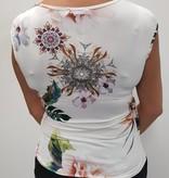 Ella Style Overslag top witte print