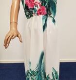 New Collection Witte zomerjurk met bloemmotief